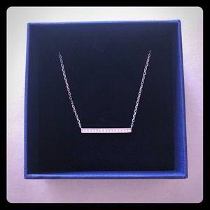 Swarovski Crystal Bar necklace silver 38CM